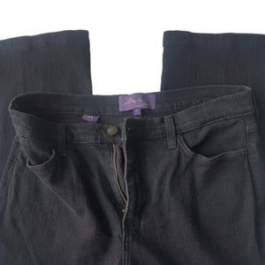 Not Your Daughter's Jeans Black Straight-Cut Sz 12